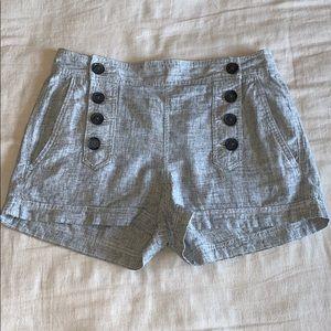 Express Linen Blend Sailor Waist Button Shorts 10